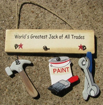 Wood Sign   1800KWorlds Greatest Jack All Trade - $1.95