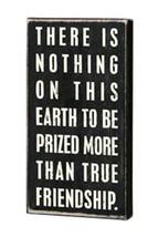 Primitive Wood Box  Sign16338 - True Friendship - $8.95