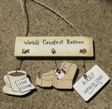 Wooden Sign     1500Q-Worlds Greatest Retire-Man - $1.95