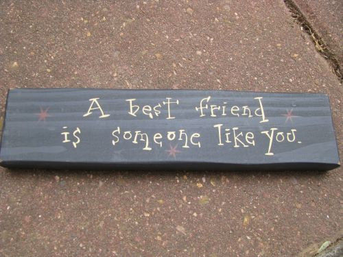 Primary image for wood block m9907abf- A best Friend is someone like you