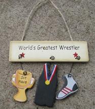 Wood Sign  1800E - World's Greatest Wrestler - $1.95
