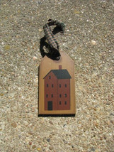 Primitive Wooden Tag  31599H - House Primitive Gift  Tag - $1.95