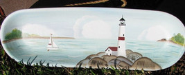 Primitive Wood Plate XP-2G - Lighthouse Plate - $9.95