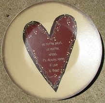 Primitive Wood Plate    2473N - No matter What...Home Plate - $12.95