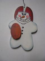 Wooden Snowman  WD1057 - Football Snowman - $1.75