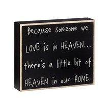 Wooden Box Sign PS-4195 Heaven in our Home - $9.95