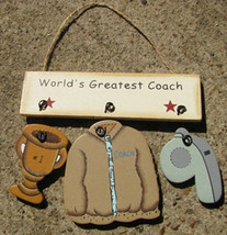 Wood Sign 1200S-Worlds Greatest Coach - $1.95