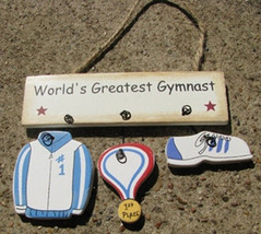 Wood Sign 1800C-Worlds Greatest Gymnast - $1.95