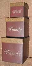 Primtiive Nesting Boxes 01-2906 Faith Family Friends s/3 - $19.95