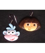 DORA the EXPLORER & BOOTS EARRINGS-Cartoon Character Jewelry-FAC - $6.97