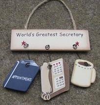 Wood Sign  1200N-Worlds Greatest Secretary - $1.95
