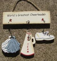 Wood Sign 1200I-World's Greatest Cheerleader - $1.95