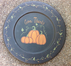 Primitive Wood Plate 202-122 Give Thanks - $11.95
