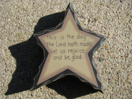 Primitive Wood Standing Star 901 This is the Day the Lord has Made - $2.95