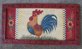 97703 Rooster Plaque Wood - $12.95