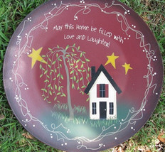 Primitive Wood Plate 2473M - May this House be filled...Burgundy - $15.95