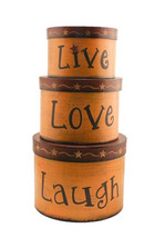 Primitive Nesting Boxes  TWA1466-Live Love Laugh s/3 Boxes - $21.95