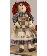 Primitive Doll    40880-Rag Doll Laugh Often Cloth  - $18.95