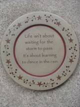 Wood Primitive Plate 31529C- Dance in the Rain Plate - $11.95