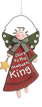 Christmas  Angel Ornament 9445 Glory to the Newborn King  - $9.95