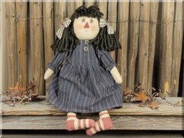 Primitive Doll Cloth  E14658 - Inez Doll - $22.95