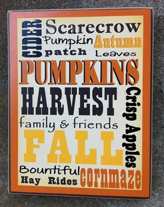 Primary image for Primitive Wood Box Sign WD00447-Fall Words