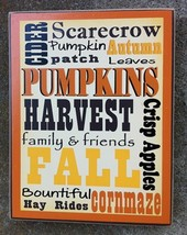 Primitive Wood Box Sign WD00447-Fall Words  - $13.95