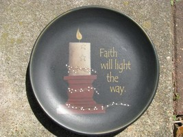 Primitive Wood Plate 32009 - Faith will Light the Way - $12.95