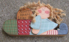 Wood  967H - A Happy Heart Loves All Doll Wood  - $3.95