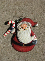 OR-608 Santa with Candy Cane Christmas Ornament - $4.95