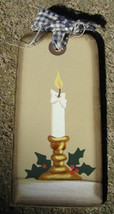 Prmitive Wood  Tag 1467 - Candle gift tag - $2.50