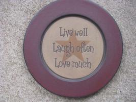 Primitive Wood Plate  31567LLL- Live Laugh Love - $11.95