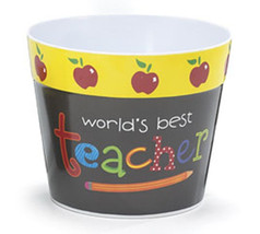 Plastic Pot Cover 0485304 World's Best Teacher ... - $5.95