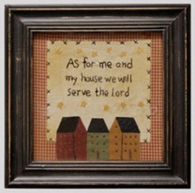 Wood Stitchery Sign  AFM1960-Me & My House Sampler - $15.95