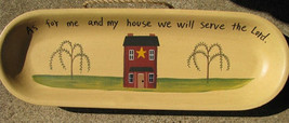 Primitive Wood Plate  XP2J - As me my and my house...Lord - $10.95