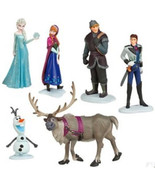 NEW Disney Frozen 6pcs Action Figures Toys Set Elsa Anna Sven Olaf Cake Topper - $12.62
