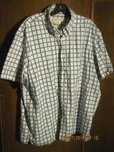 MICHAEL KORS Men's XXL Black & White Plaid Short Sleeve Shirt - €17,00 EUR