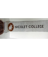 Nicolet College Wisconsin  Scarf 100 per cent Acrylic NEW - $5.99