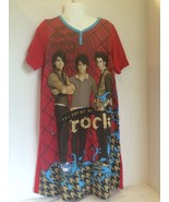 JONAS BROTHERS Disney Girls Red Short Sleeve Night Gown Size Large GUC - $8.23