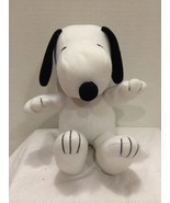Peanuts Sitting Snoopy stuffed plush Puppy Dog Galerie Brand Red Ribbon ... - $19.79