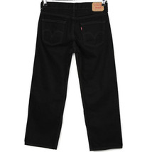 Levis 550 Mens Boys Jeans Relaxed Fit Size 30 X 26 10 Husky Black - $32.42