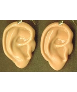 Body Parts-HUMAN EAR EARRINGS-Zombie Killer Walking Dead Jewelry - $9.97