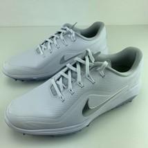Nike Womens Golf Shoes Size 7 React Vapor 2 White Metallic Silver Soft S... - $199.95