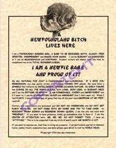 A Newfoundland Bit^h Lives Here - $20.00