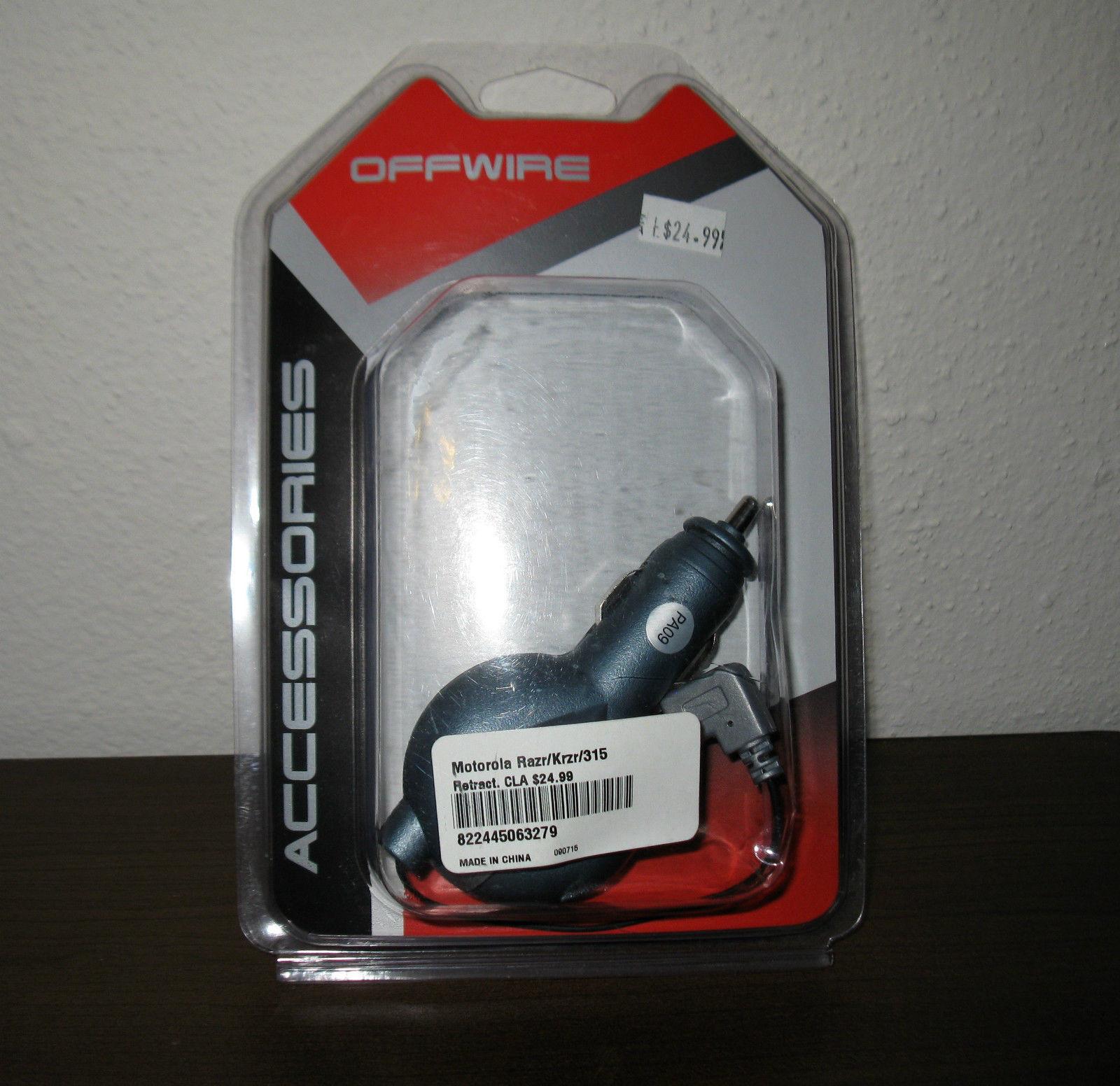 Wireless Phone Cigarette Charger For Motorola Razr, Krzr,315 Phone New #D35