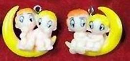LOVE IS KID COUPLE EARRINGS-Retro Mini Toy Comic Charm Jewelry-F - $6.97