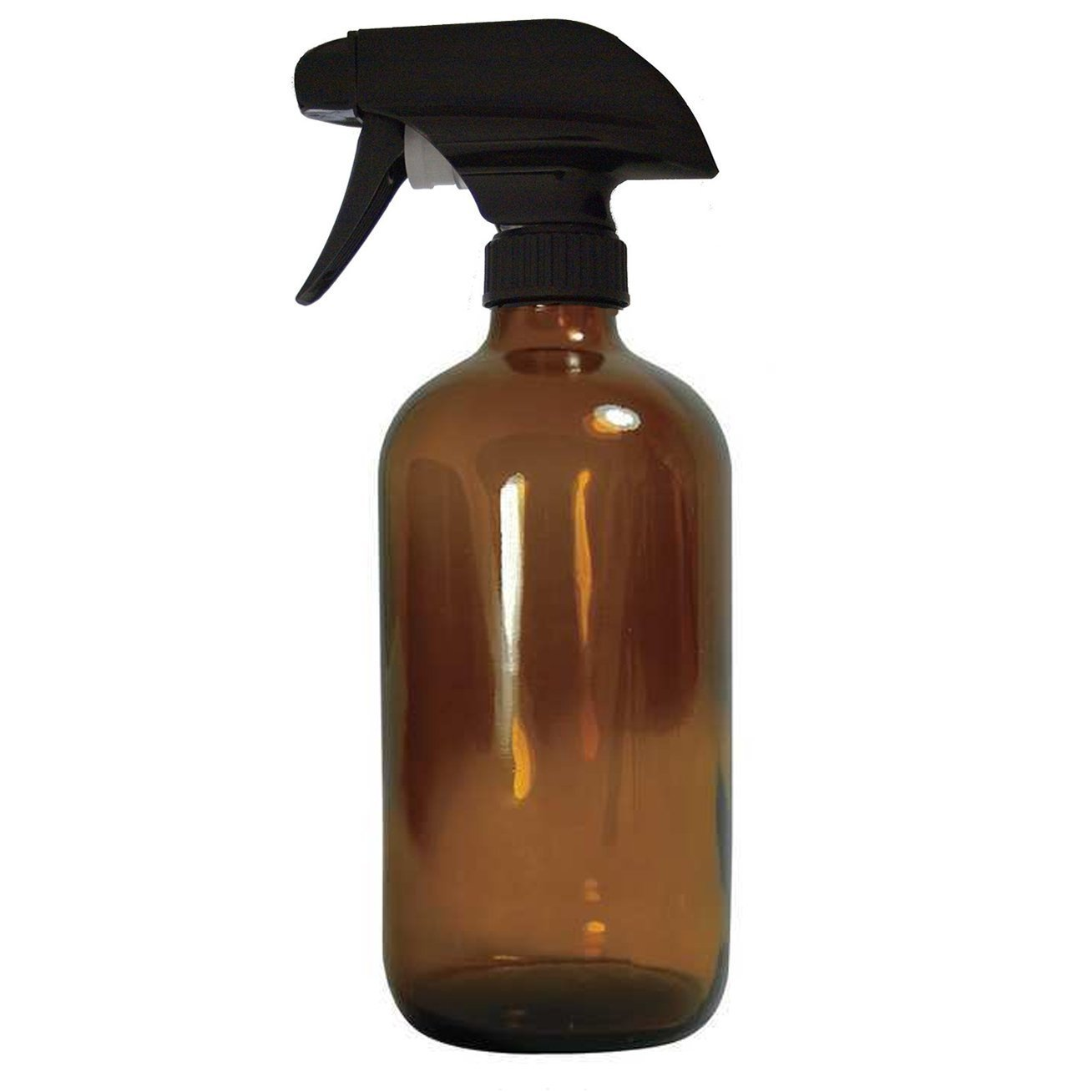16 Oz Empty Amber Glass Spray Bottle