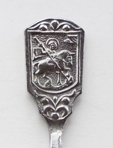 Collector Souvenir Spoon Russia Coat of Arms Horseman Spear Slaying Snake Dragon - $14.99