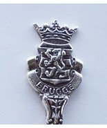 Collector Souvenir Spoon Belgium Bruges Brugge Coat of Arms Figural - $14.99