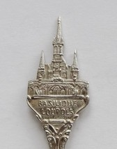 Collector Souvenir Spoon France Lourdes Basilique Roman Catholic Church Domain - $14.99
